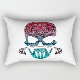 SKULL FLORAL ORNAMENTS I Rectangular Pillow