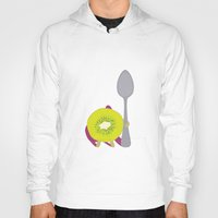 kiwi Hoodies featuring Kiwi! by Ororon