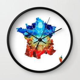 France - European Map by Sharon Cummings Wall Clock