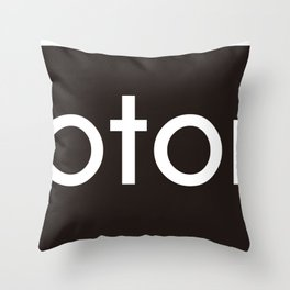 I'm notonlyARCH black Throw Pillow