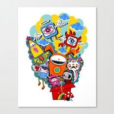 Polypop The Box Canvas Print