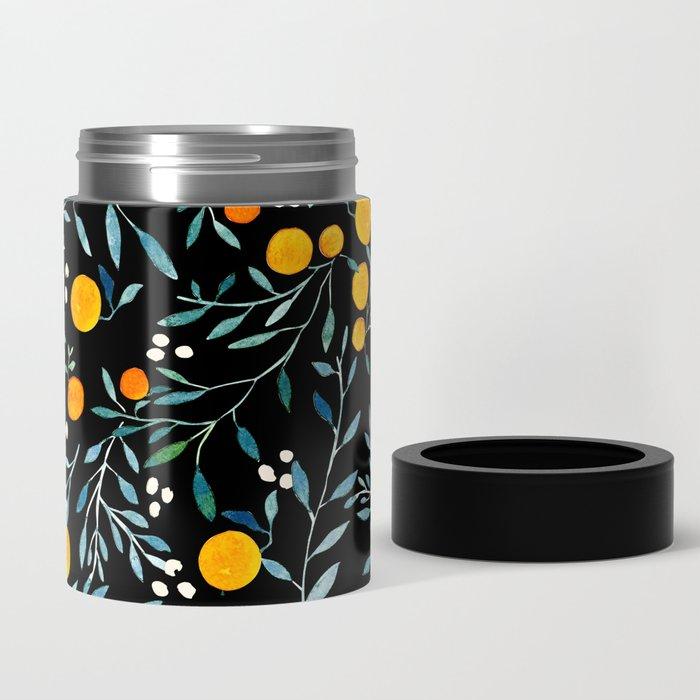 Oranges Black Can Cooler