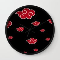 lannister Wall Clocks featuring AKATSUKI CLAN  by BeautyArtGalery