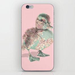 Cherry Blossom Baby Duck iPhone Skin