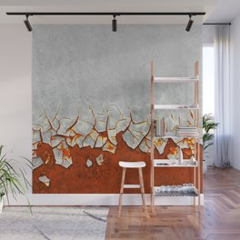 Rust and Grey Wall Mural