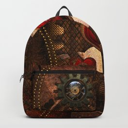 Steampunk, awesome steampunk heart Backpack