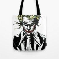 joker Tote Bags featuring Joker. by CJ Draden