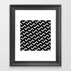 B/W S shape pattern Framed Art Print