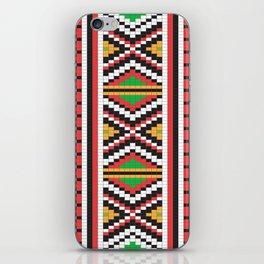 Slavic cross stitch pattern with red green orange black white iPhone Skin