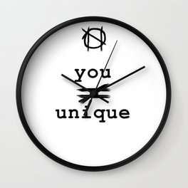 you do not equal unique Wall Clock