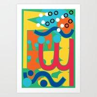 flag Art Prints featuring Flag by paulo quirino