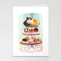blankets Stationery Cards featuring Petit Pigs sans Blankets by Steph Laberis