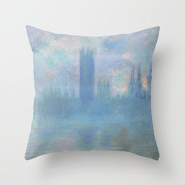Monet, The Houses of Parliament, London, 1900-1093 Throw Pillow