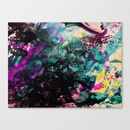 Textured Graffiti Print Canvas Print