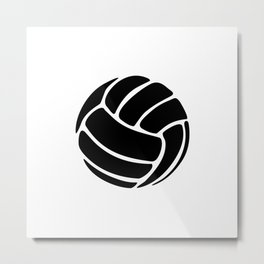 Volleyball Ideology Metal Print