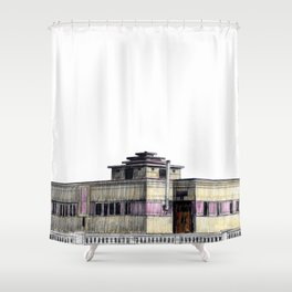 GALLERY SQUARE CHALET Shower Curtain