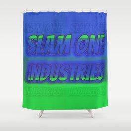 Slam 1 Industries Green n Blue Shower Curtain