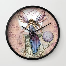 A Place to Think Fairy Fantasy Art Wall Clock
