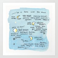 In Tune With the Moon Art Print