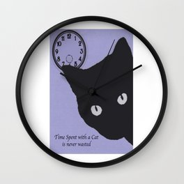 Time Spent with a Cat Wall Clock