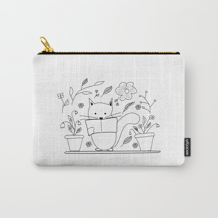 Cat between the flowers Carry-All Pouch