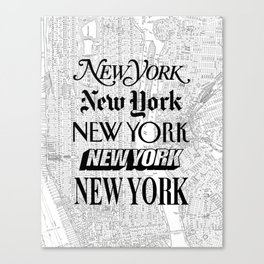New York City black and white New York poster I love heart NYC Design black-white home wall decor Canvas Print