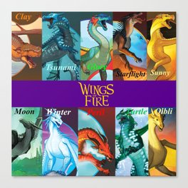Wings of fire dragon Canvas Print
