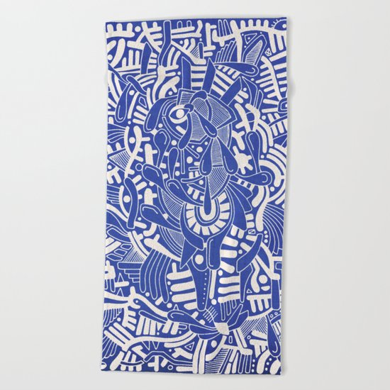 - captain lost in blue - Beach Towel
