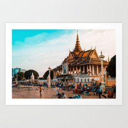 Local life - Phnom Penh, Cambodia Art Print