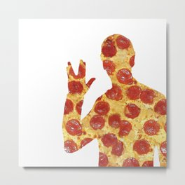 Live Long and Pizza Metal Print