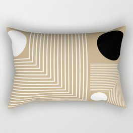 Lines & Circles Rectangular Pillow