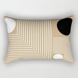 Lines & Circles Rectangular Pillow