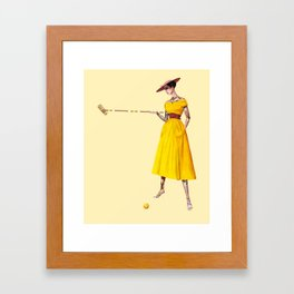 Croquet and Ink Three Framed Art Print