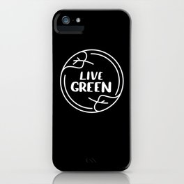 Live Green Climate iPhone Case