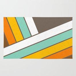 Retro 70s Stripes  -  Abstract Geometric Design Rug