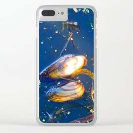 Clams in a Tidal pond Clear iPhone Case