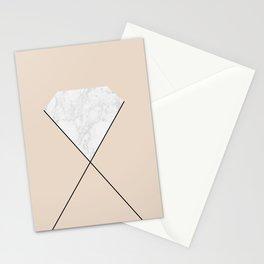 Marble diamond Stationery Cards