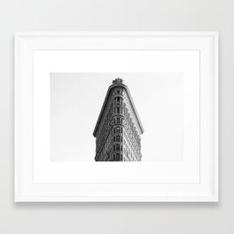 Flatiron Black and White NYC Framed Art Print