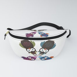 Owl Crowd Fanny Pack