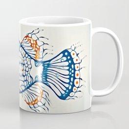 BLUE FISH Digital Painting Coffee Mug
