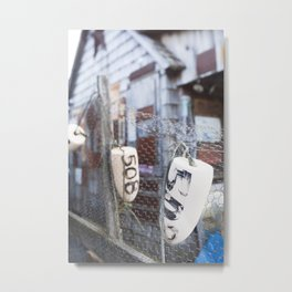 Jersey Buoys Metal Print