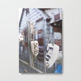 Jersey Buoys Metal Print