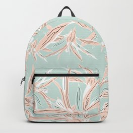 Hawaii style botanical leaves collection in pastel Backpack