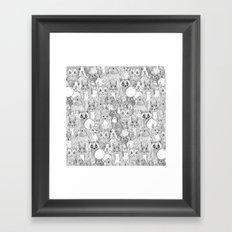 crazy cross stitch critters Framed Art Print