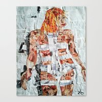 fifth element Canvas Prints featuring LEELOO THE FIFTH ELEMENT by JANUARY FROST