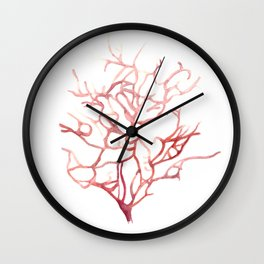 Red Coral Wall Clock