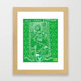 URSA VERDE Framed Art Print