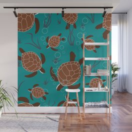 Swimming Sea Turtles Wall Mural