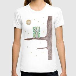 Owl Fun #5 #mint #green #gold #drawing #decor #art #society6 T-shirt