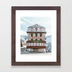 Hotel Belvedere, Switzerland Framed Art Print